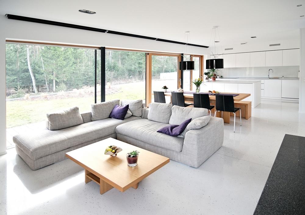 Enoten bivalni prostor enodružinske hiše
