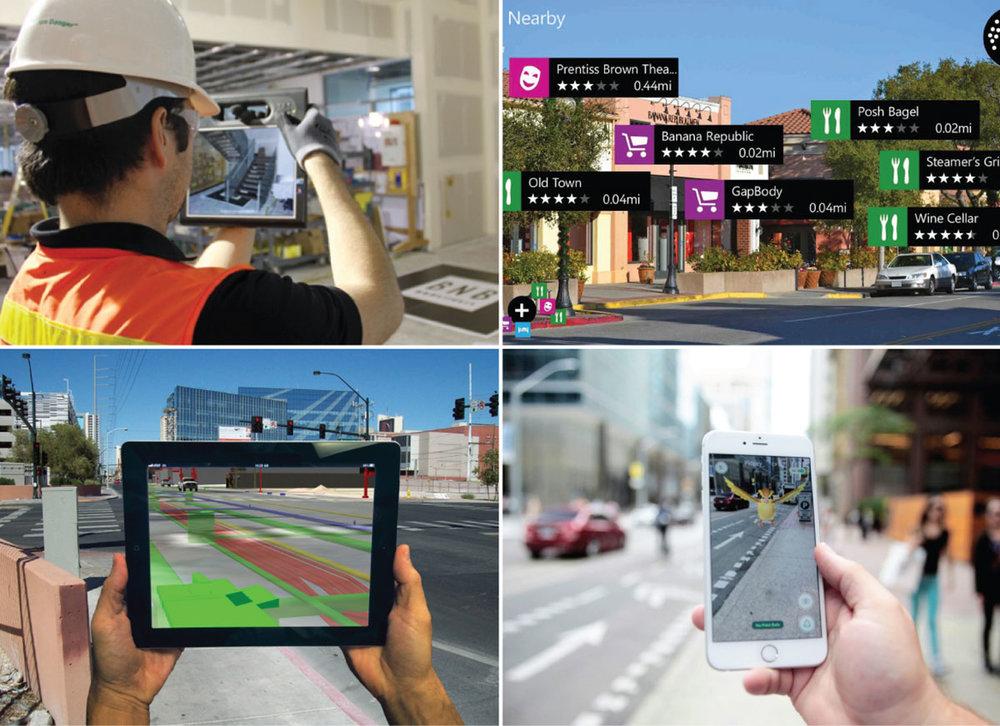 Razširjena resničnost - prekrivanje virtualnih informacij preko realnega okolja.