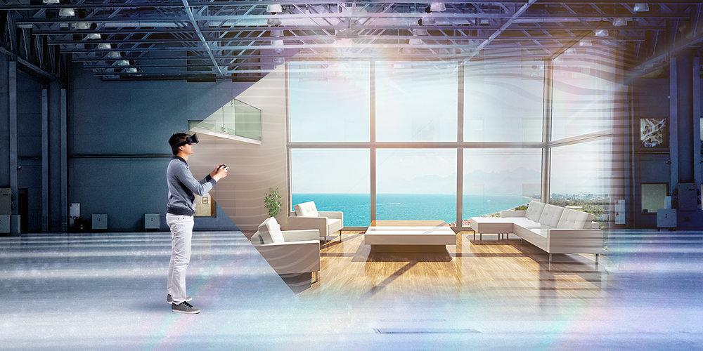 Sprehod skozi predvideno preureditev stanovanja v virtualnem prostoru.