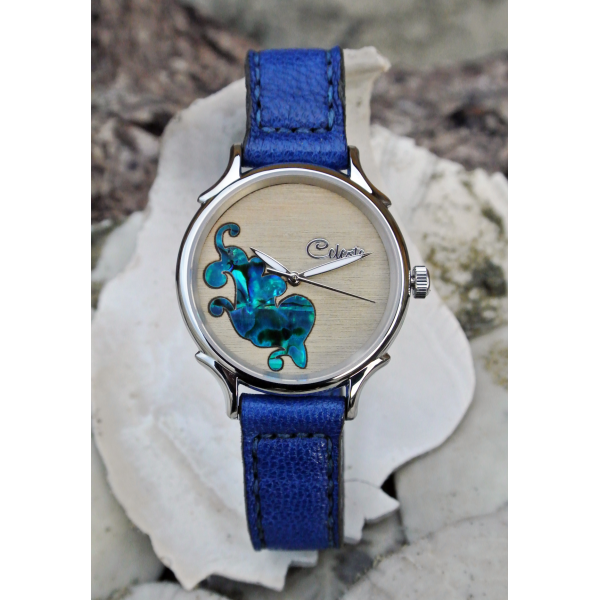 Celeste watch blue band