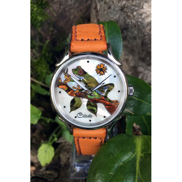 Celeste Watch Orange band