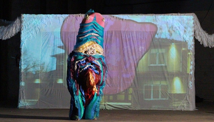 """""""It's all Really Real"""" performance by Jen Clay (video soundscape by WHEATS)"""