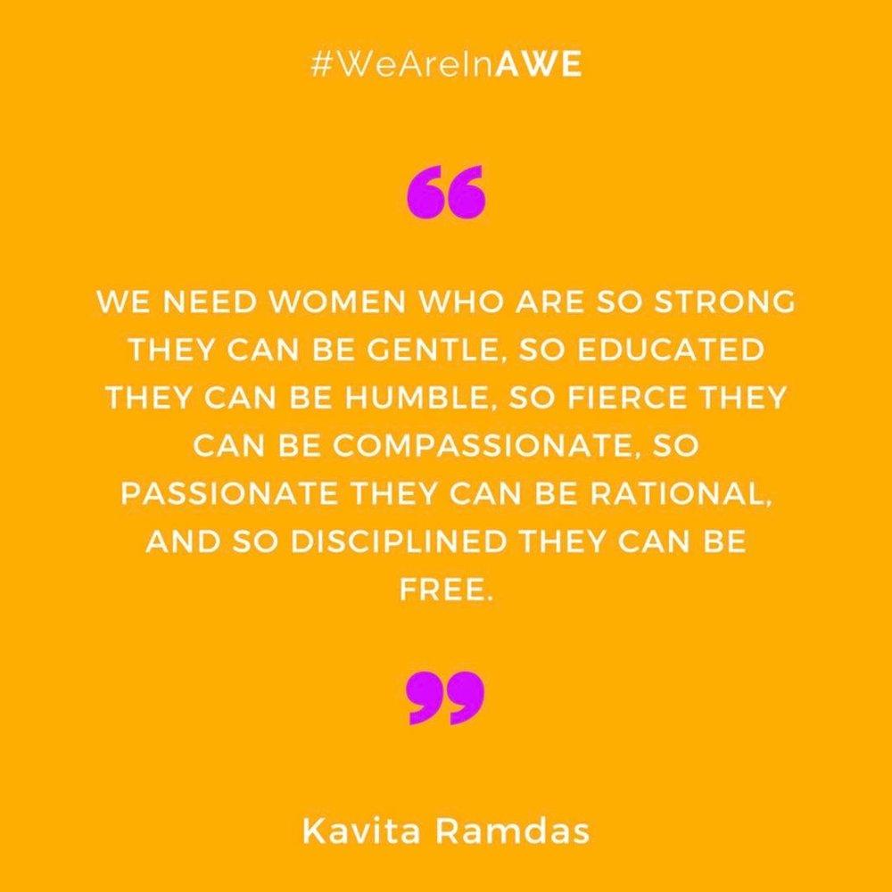 Quote by Kavita Ramdas