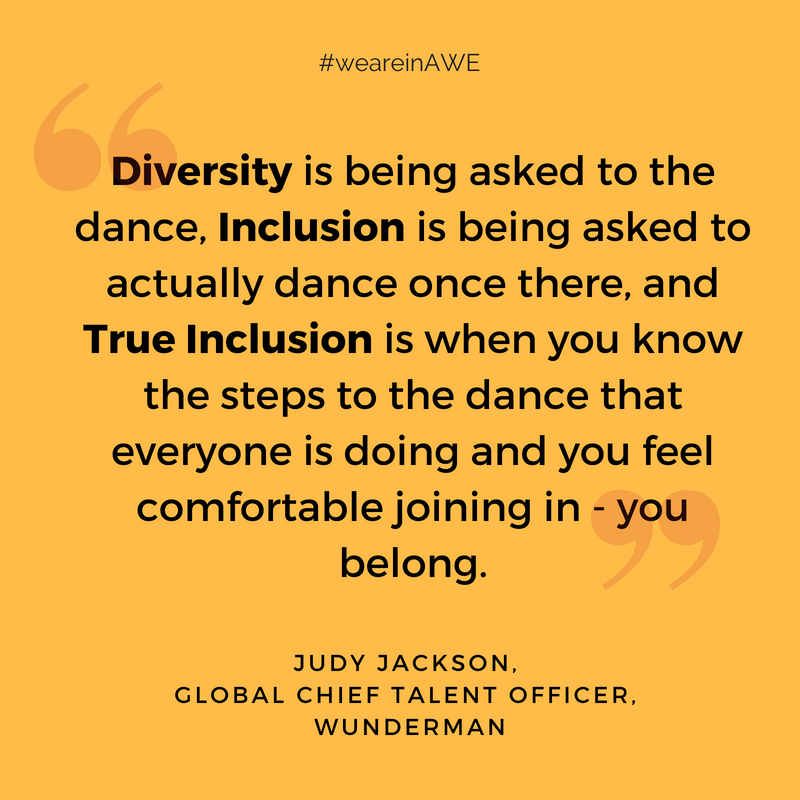 Diversity is being asked to the dance, Inclusion is being asked to actually dance once there, and True Inclusion is when you know the steps to the dance that everyone is doing and you feel comfortable joining in an.png