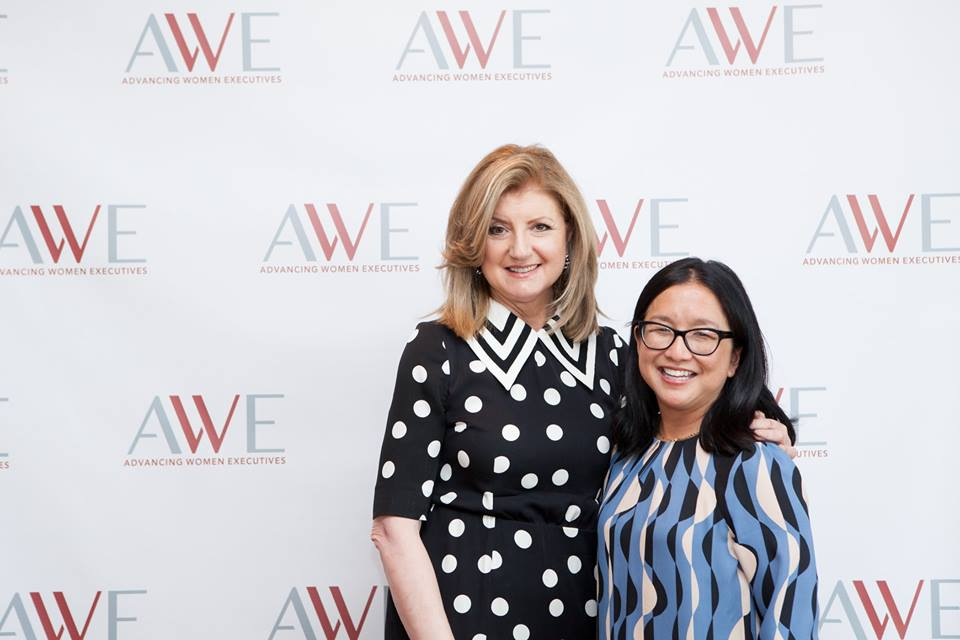 Arianna Huffington with Meiko Takayama at an AWE gathering in 2017, where Arianna spoke on mindfulness in the workplace.