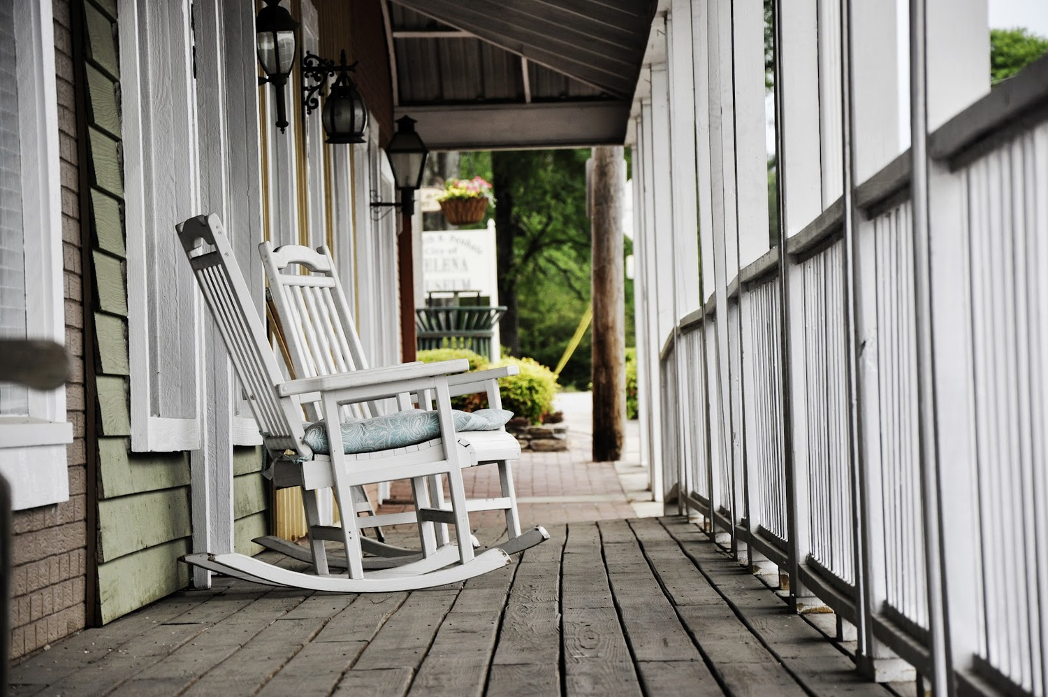 Old Rocking Chair On Porch Furniture Retro Terrace