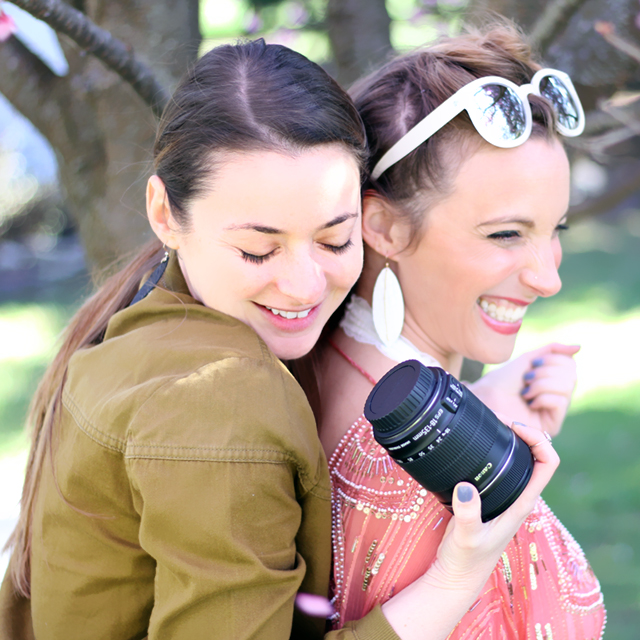 Shielding Lauren from the gusts of wind during our shoot. March was a cold month in Jersey this year!