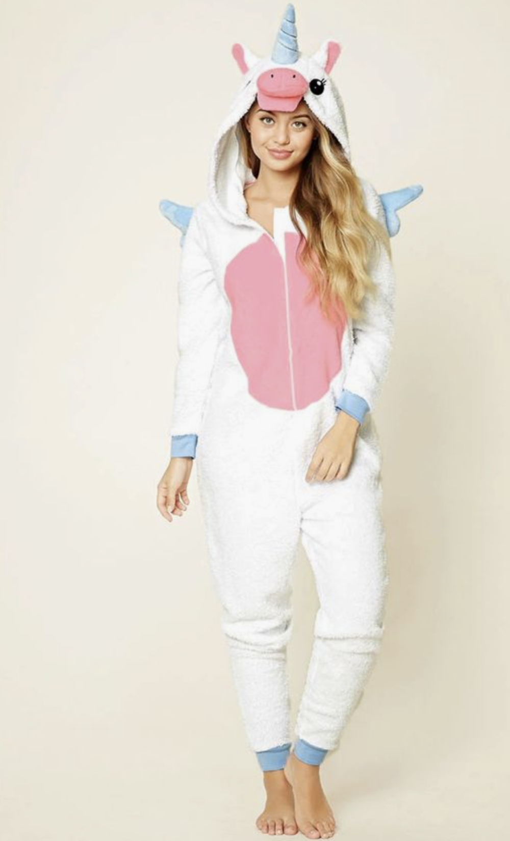 This Unicorn Onesie would make the perfect cute, simple and comfortable Halloween costume!