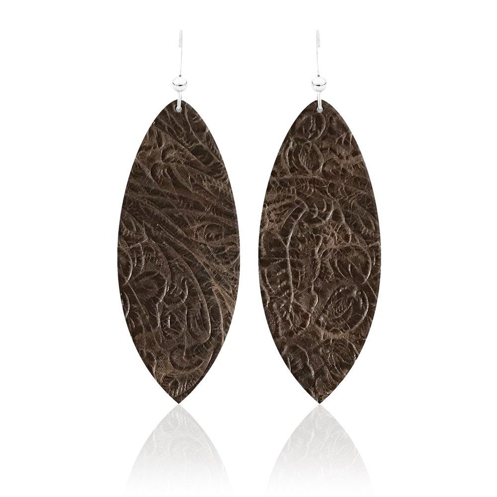 Sierra Classic Leather Earrings