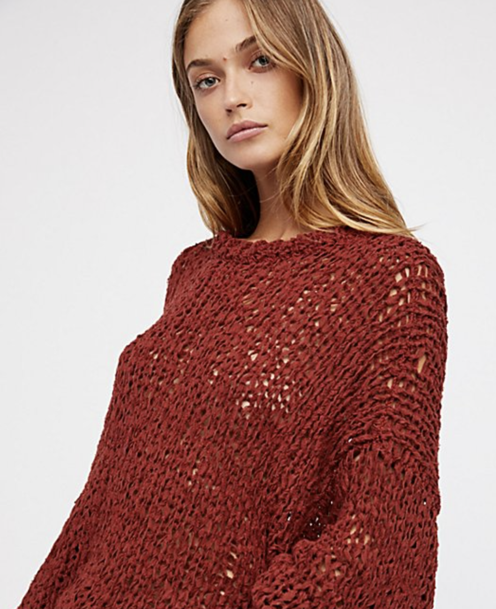 Free People Sweater Red