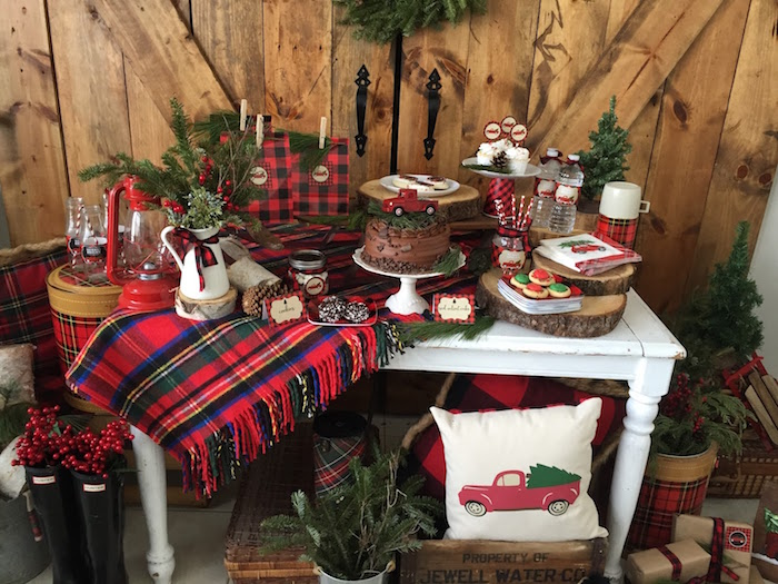 Tartan Table Display