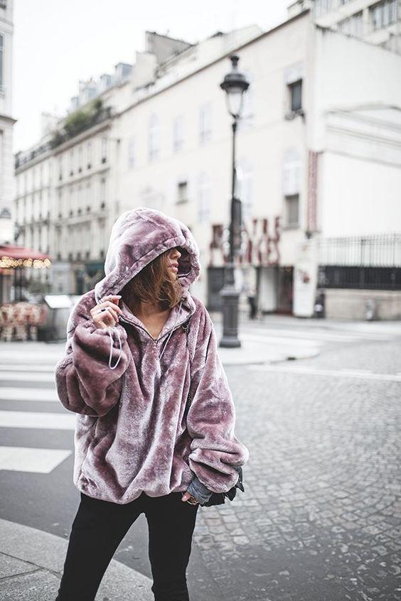 Pink Velvet Hoodie