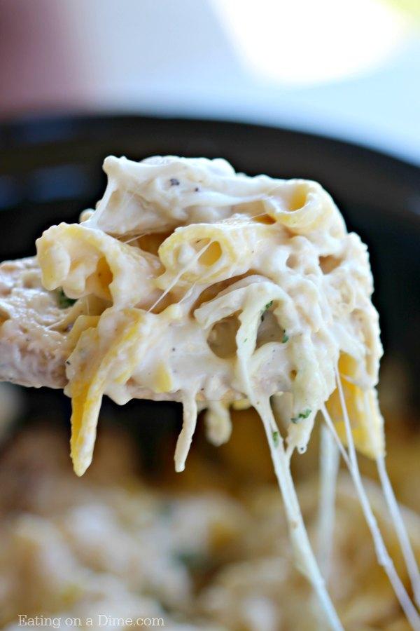 Crock Pot Chicken Alfredo Casserole