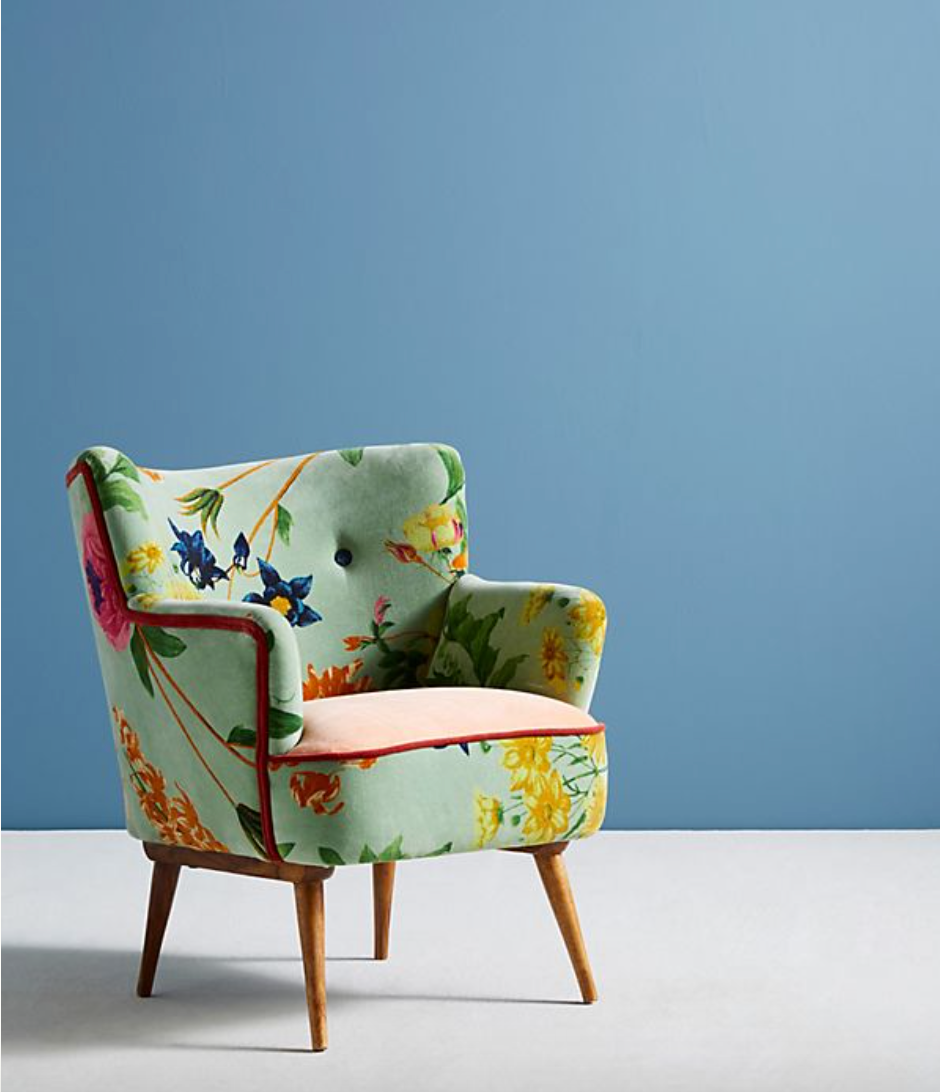 Floral Anthropologie Chair