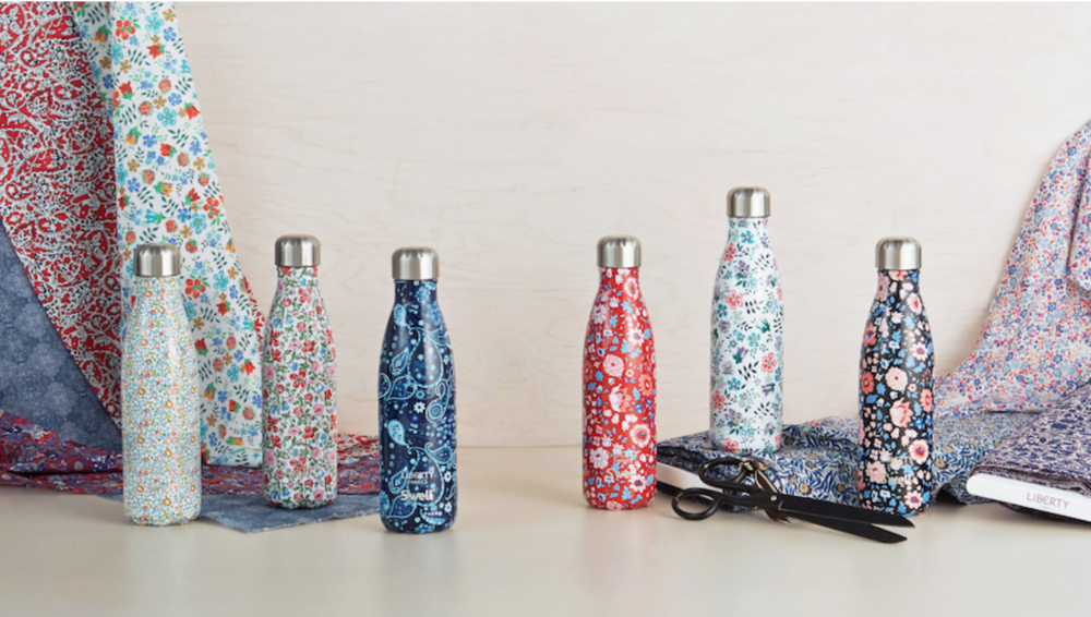 While you enjoy your yogi practice in a new pair of Emily HSU leggings, step-up your flower power game with these   Swell Water Bottles . Swell partnered with UK's Liberty London to create these signature floral and paisley patterns for their bottles. You guys... how on point is the UK??