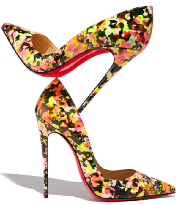 Love the neon, abstract florals, and high heel? Get them   here . ($725)