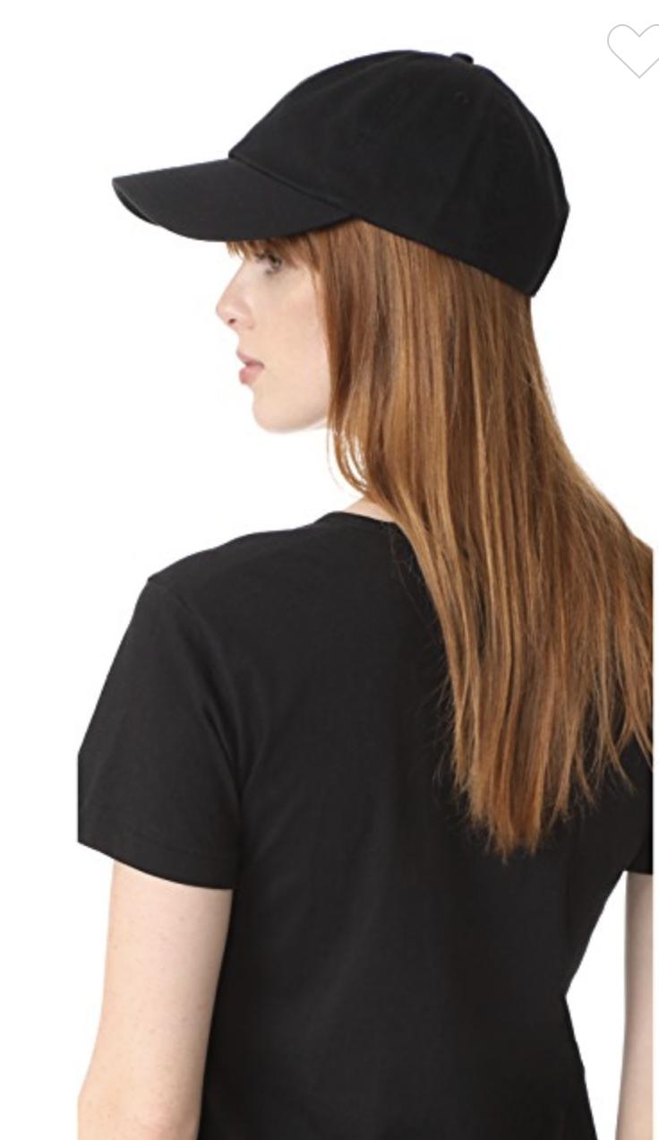 Logo Free Black Baseball Cap