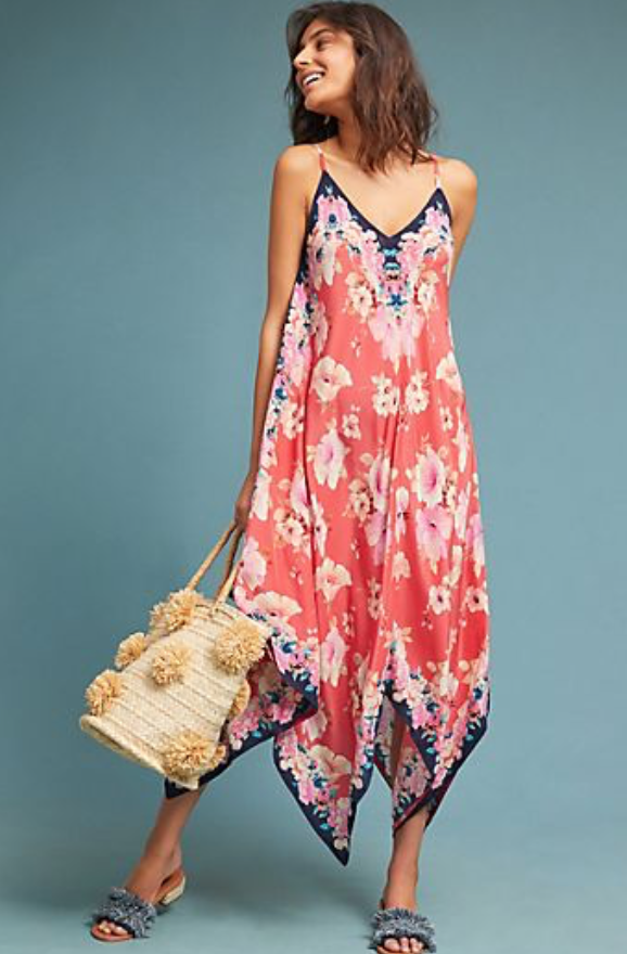 Anthropology Floral Dress