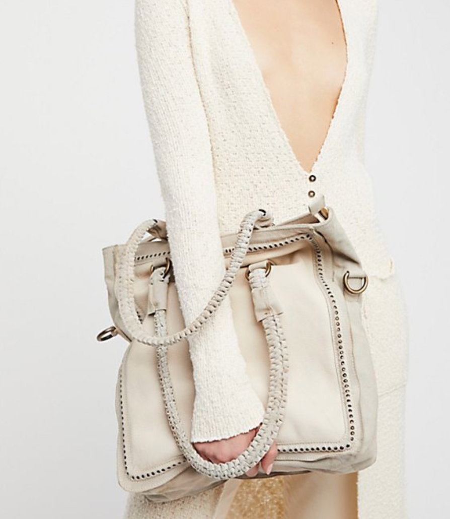 Get this gorgeous Farrah White Leather Tote at   Free People .