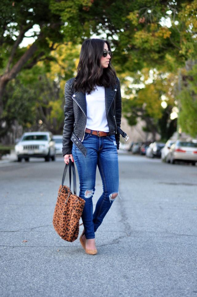 Denim & leather pairing