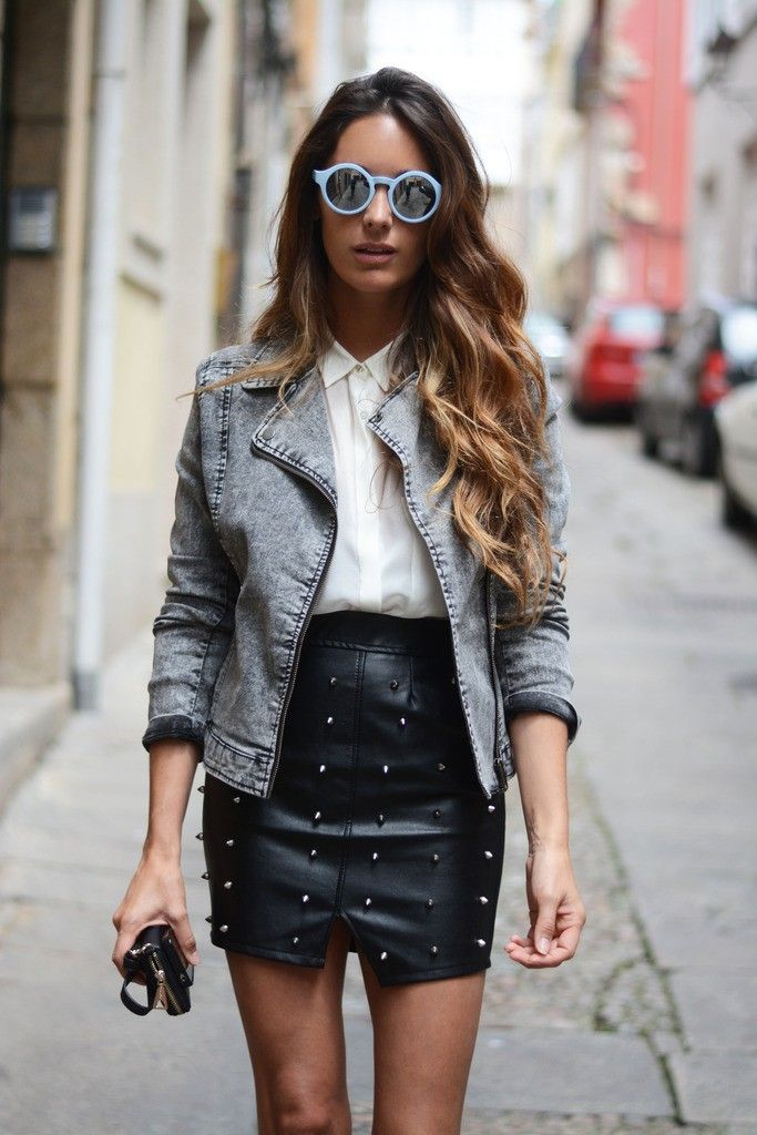Denim and Leather Combo