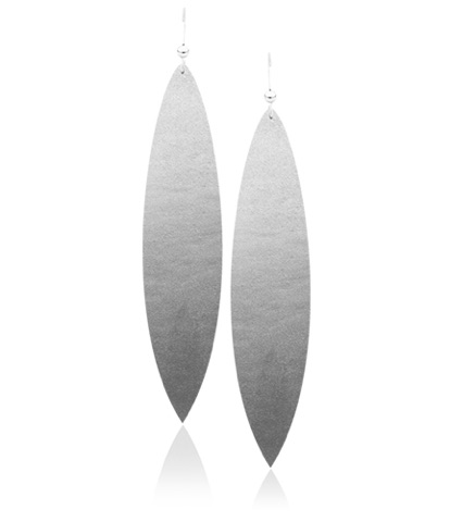 Get these Classic Silver Leather Earrings for $20.