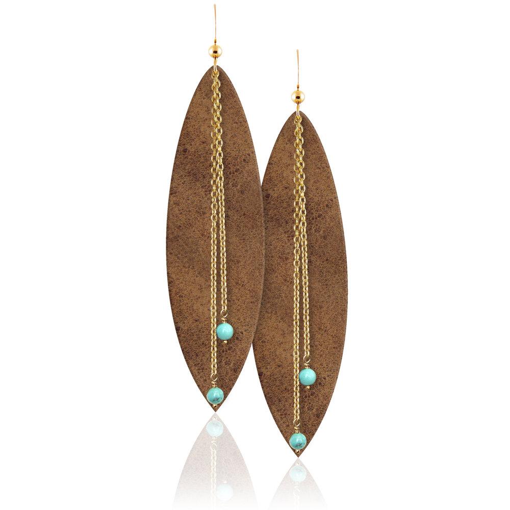 Desert Daughter Leather Earrings
