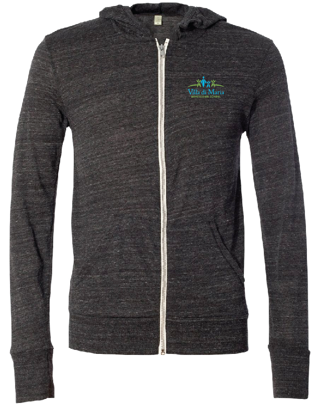 Alternative Unisex Eco Jersey Lightweight Full-Zip Hoodies