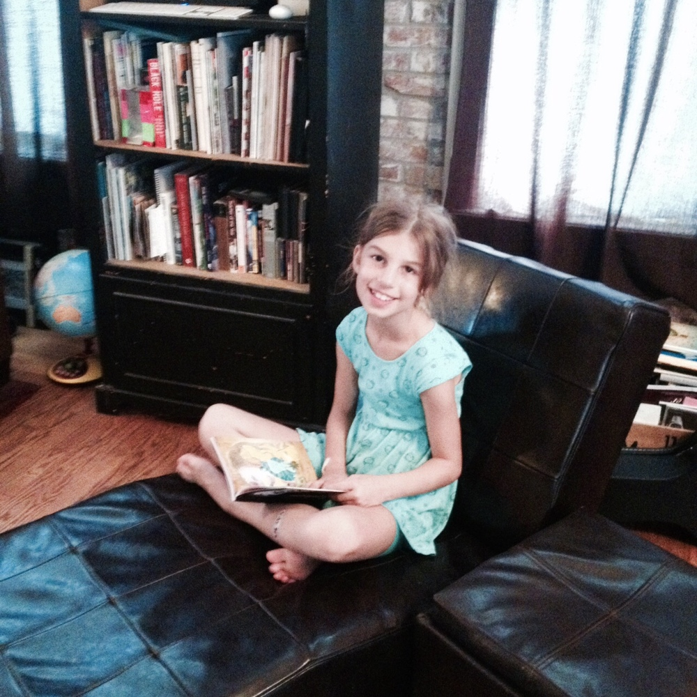 Reese, reading up a storm!