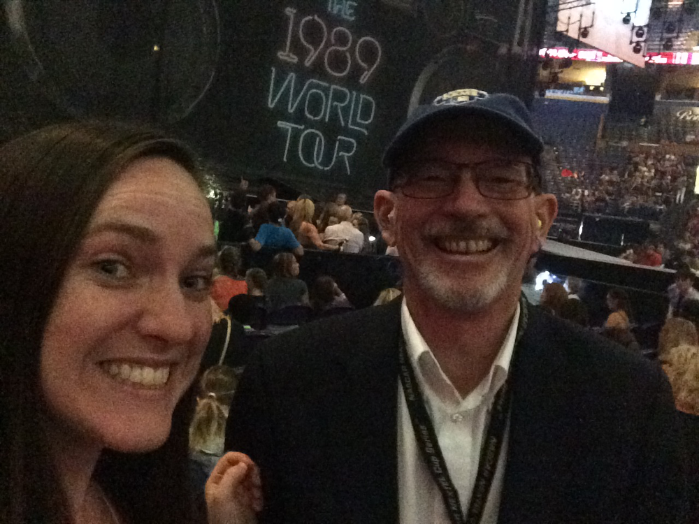 With Dad at the Taylor Swift concert (who genuinely loved it!)