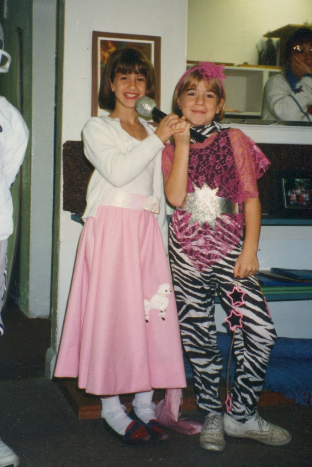 Ms. Megan as a Villa di Maria student, celebrating Halloween,standing in what is NOW her very own classroom. Can't. Beat. That.