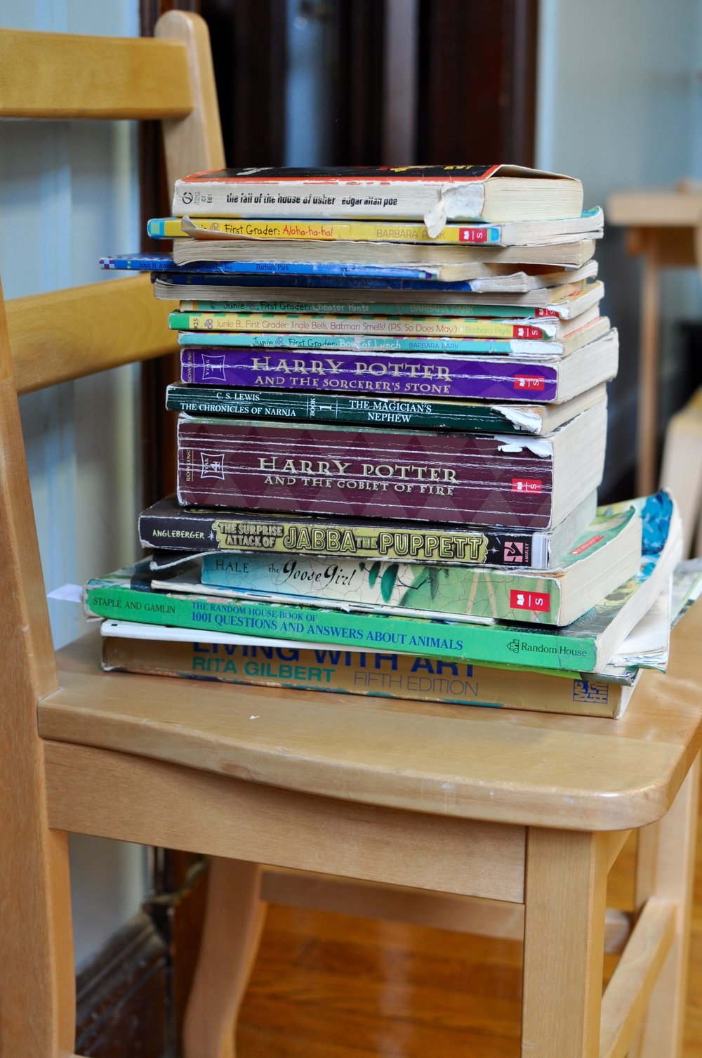 These well-loved books are on their way out — clearly, there's a whole lot of reading going on in here!