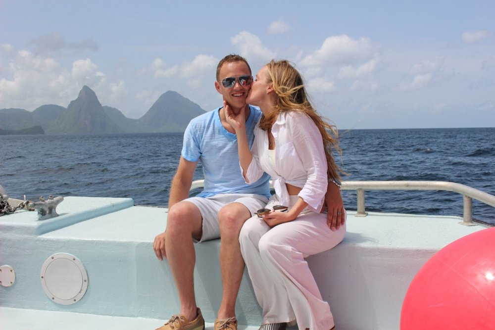 St. Lucia Blues On A Boat | Honeymoon | Travel Guide