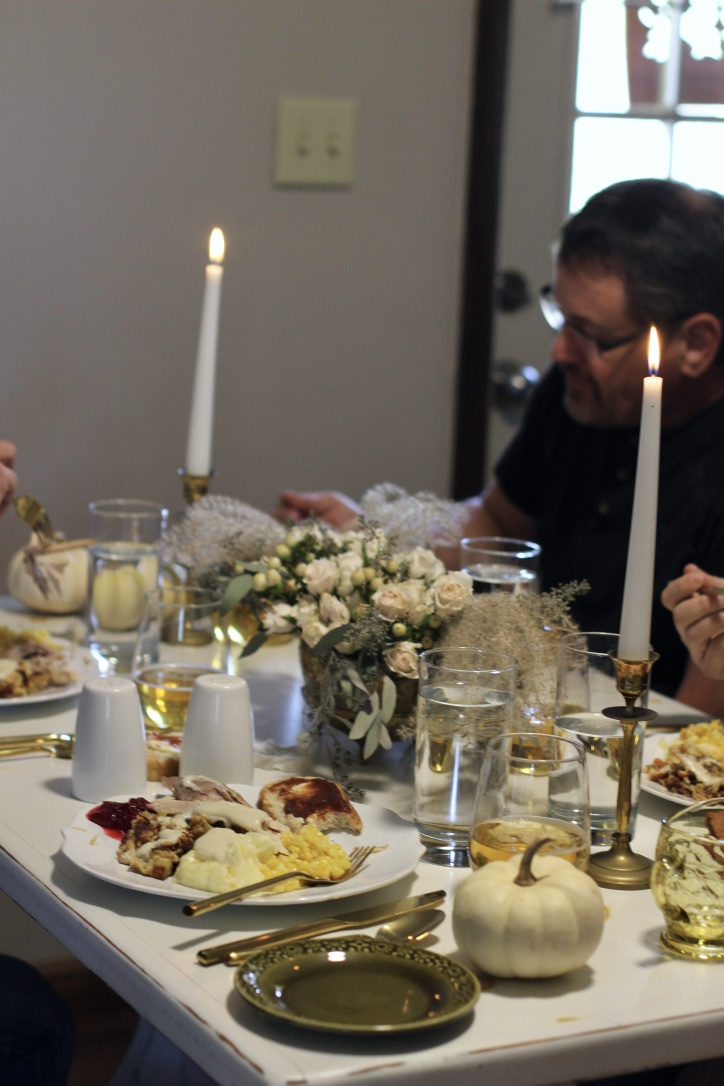 Our Thanksgiving Table | tablescape, thanksgiving meal, pumpkin pie | loveshyla.com.jpg