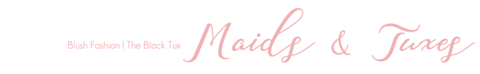Maids & Tuxes | Blush Fashion, The Back Tux