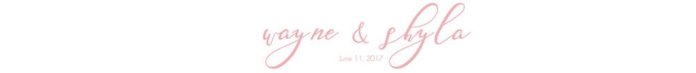 Wayne & Shyla Wedding | June 11, 2017