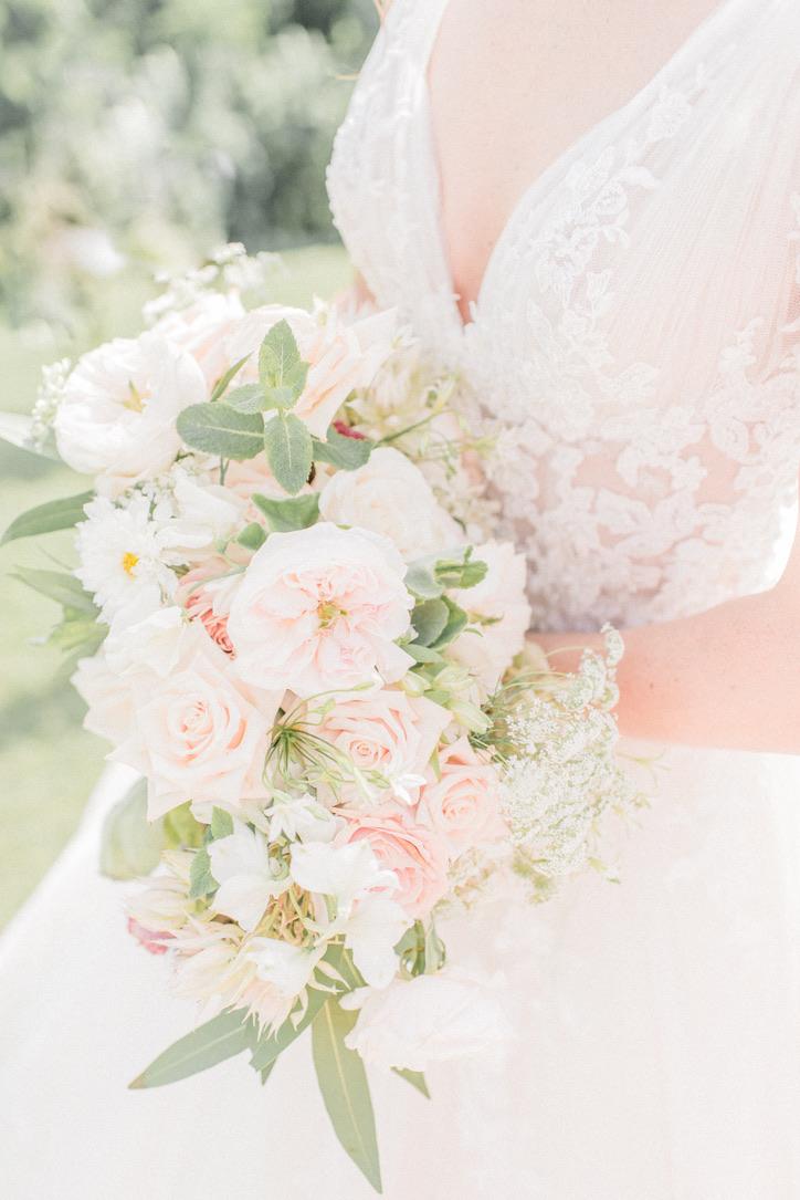 Fine Art Wedding Florals | Lush, Soft, White, Yellow, Blush, Olive Green Wedding, Edgewood Country Club, Charleston, WV Flower Design by Love Shyla, Bridgeport, WV