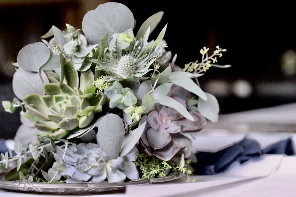 Wooded Succulent Wedding Floral Bouquets | Loveshyla.com