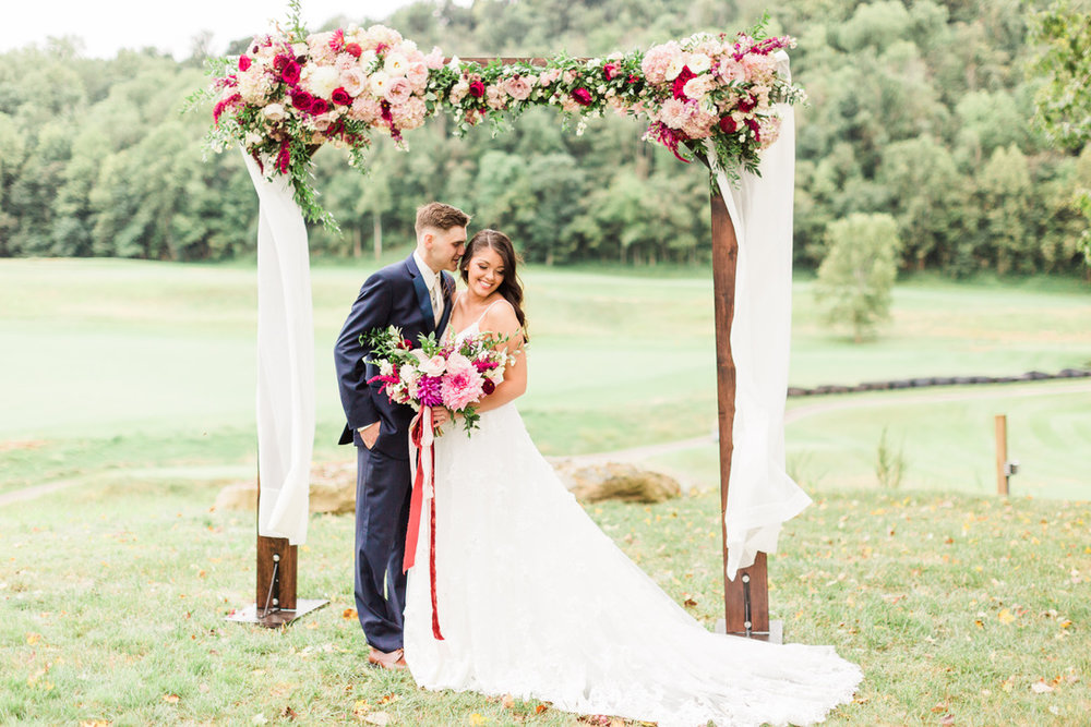 Romantic Autumn Wedding | Pete Dye Golf Club