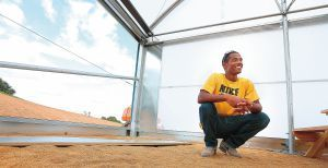 Army veteran Derek Riddick, 25, is learning how to build a hydroponic greenhouse while participating in the program. He said he'd like to eventually return to the Eastern Shore and begin a similar project, teaching youngsters from poverty areas how to grow their own food and start their own agricultural businesses.