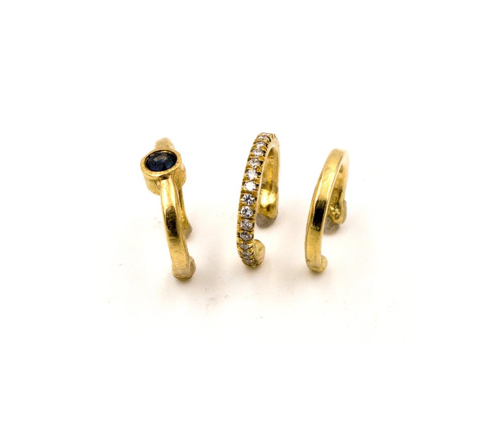 18k yellow gold ear cuffs