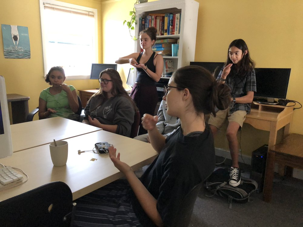 Student-led American Sign Language class