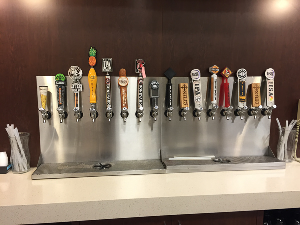 Beer taps at the local grocery store.