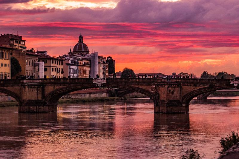 Sunset Florence Tuscany
