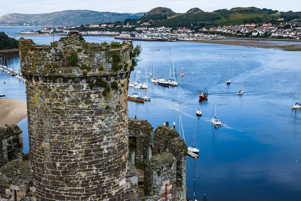 Conwy Castle and Harbor