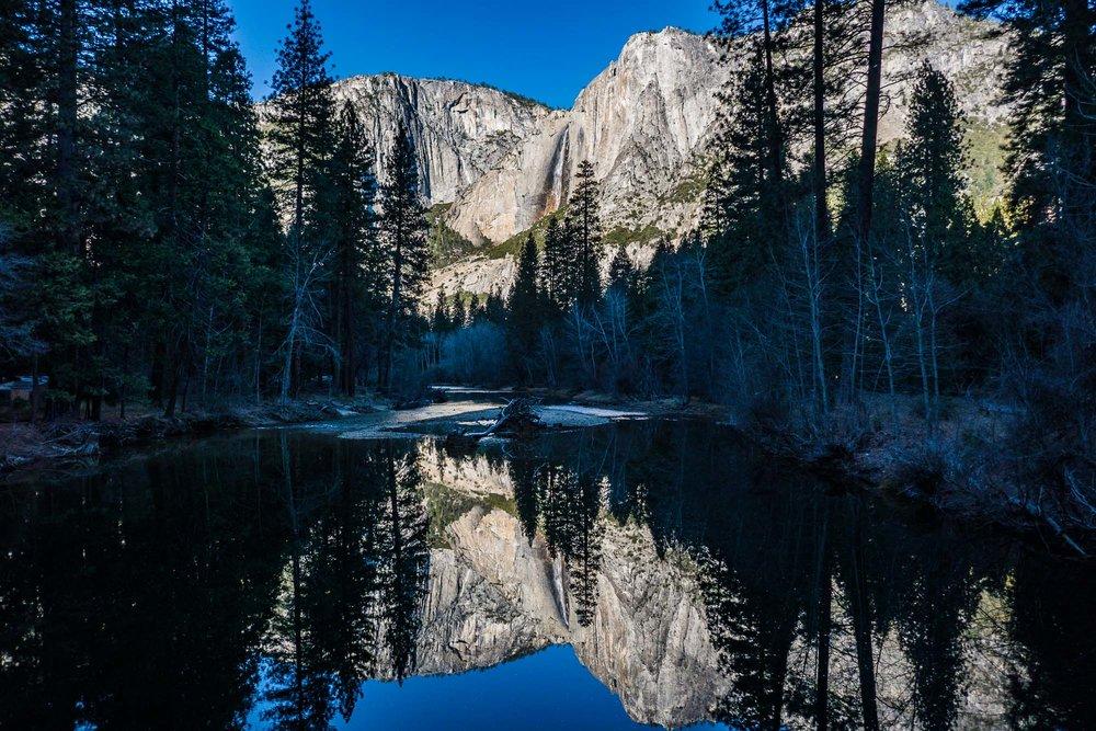 Merced River and Yosemite Falls