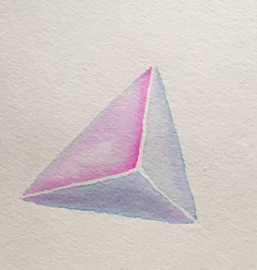 Lines III, gouache on paper, 2017
