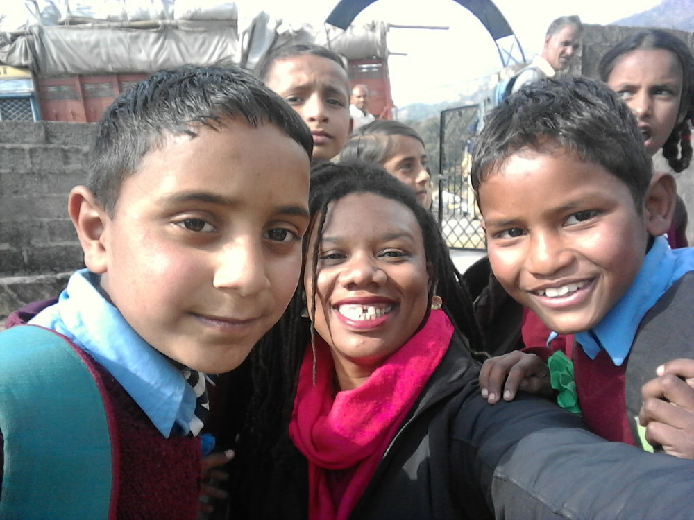 Visiting Puja's students in Dharamshala