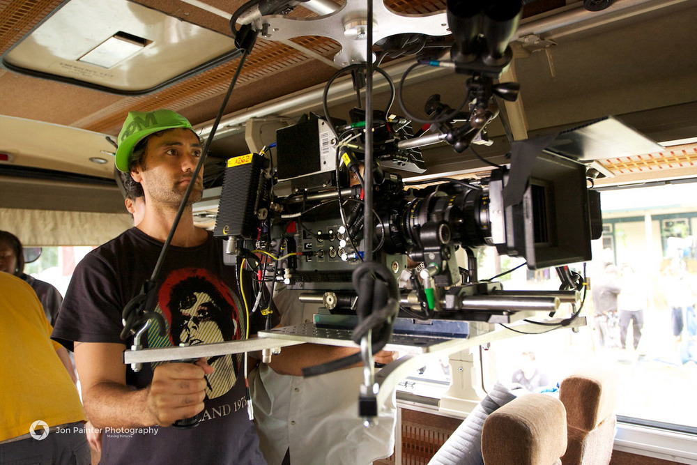 Taika Waititi checks the shot - Inbetweeners