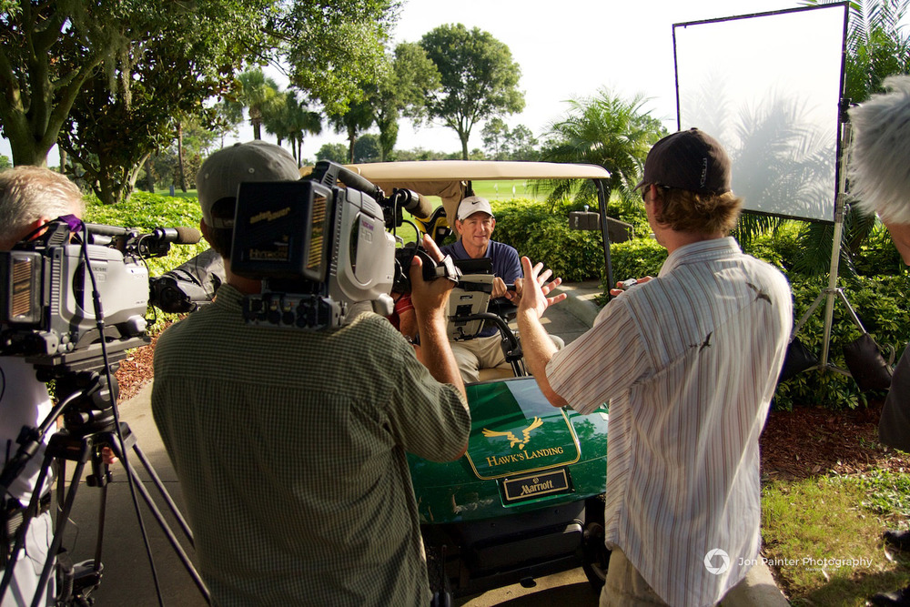 Hank Haney on set - The Haney Project Pilot